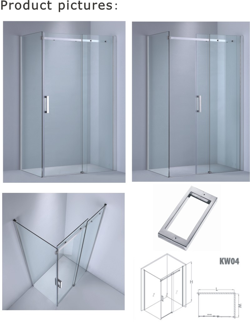 Sliding Shower Enclosure/Rectangular Bathroom Canbin with Australian/American/European Standard (KW04)