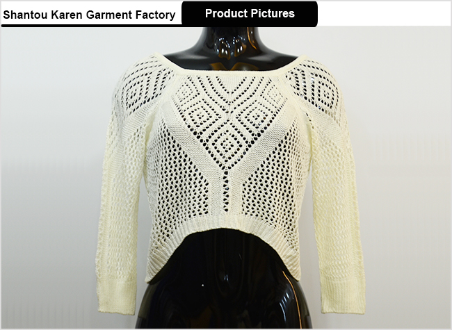 Women Hi-Lo Hem Lace-up Back Sweater