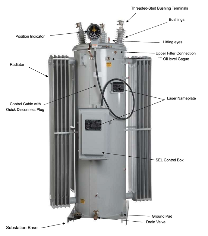 Single Phase Oil Immersed High Voltage Step Stabilizer Vr-8