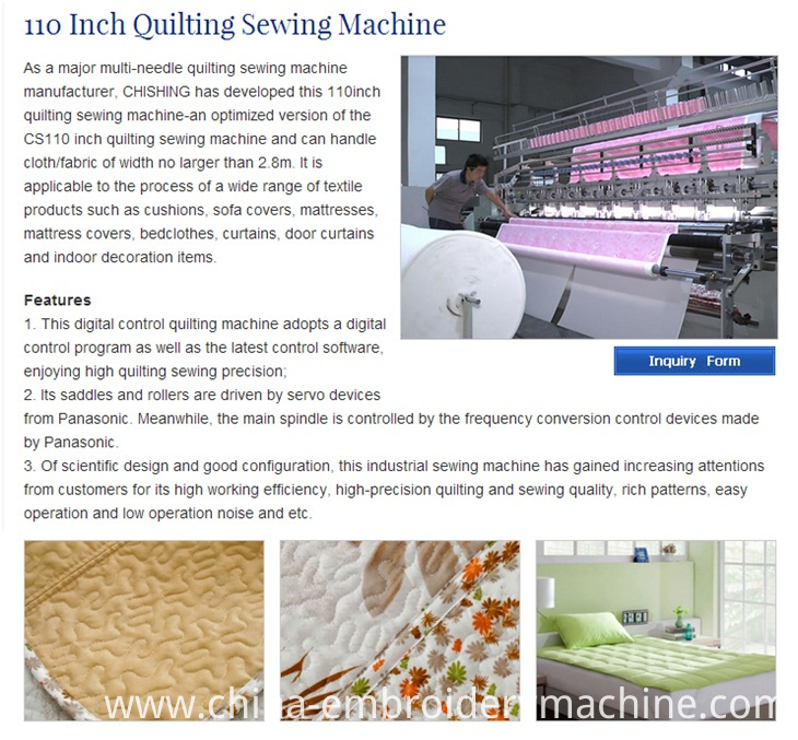 CS110 Multi Needle Industrial Comforter Manufacturing Quilting Sewing Machine