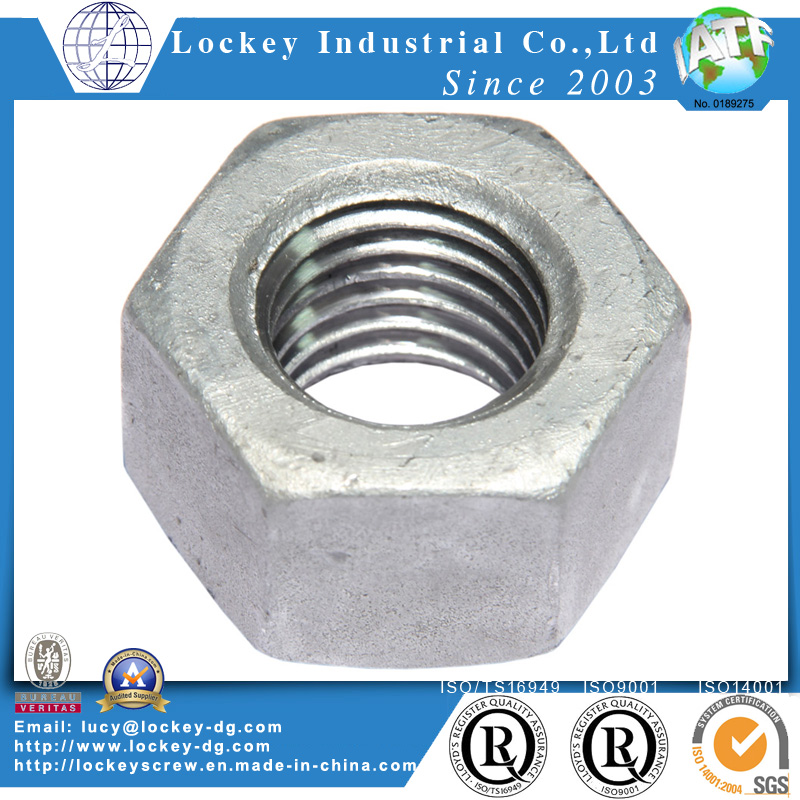 HDG Steel Hex Nut, 2h Nut, A194 Nut, A563 Nut