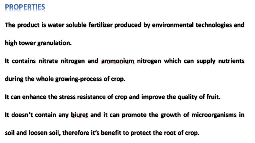 High Tower Nitrogen Fertilizer