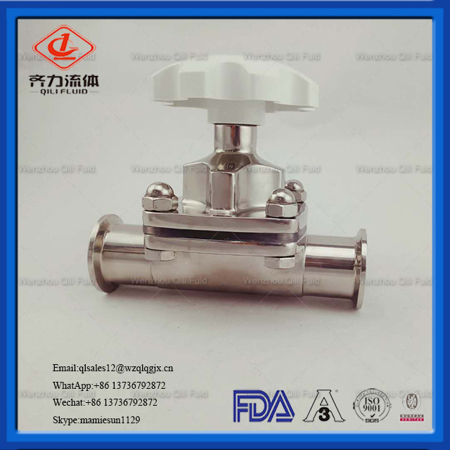 Hydraulic Ss Water Clamped Diaphragm Valve