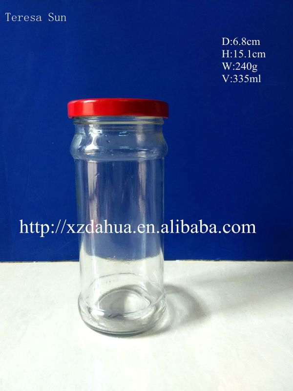 Glass Bottle with Tin Lid