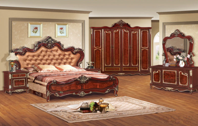 Reproduction Bedroom Furniture with Classic Bed (W803B)