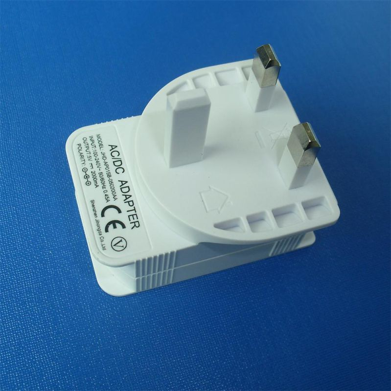 UK Plug Power Supply AC/DC 5V 2A USB Charger Adapter