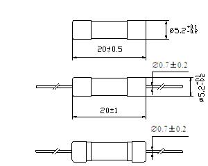 Glass Tube Fuse Axial Lead Fast-Acting 5 X 20 mm