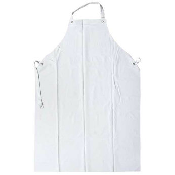 White Waterproof Apron Work Clothing PVC Apron