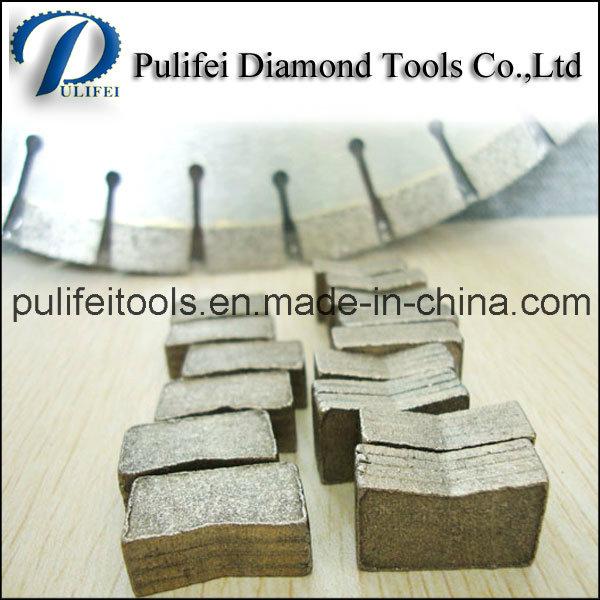 Layered Sandwich Arix Diamond Segment for Abrasive Stone Cutting