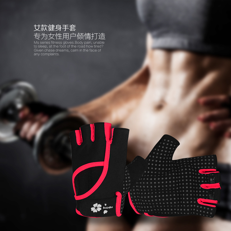 Microfiber Body Building Finger Girls Crossfit Sport Gloves with Flip Top