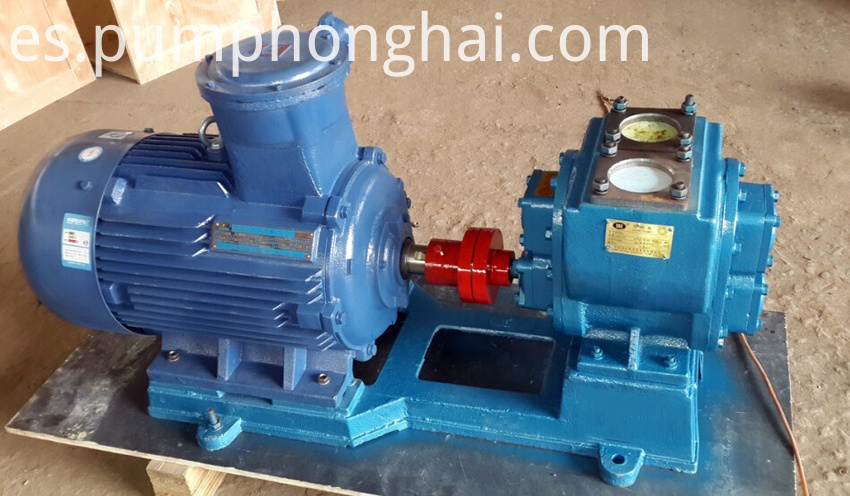 YHCB gear pump driven by electric motor