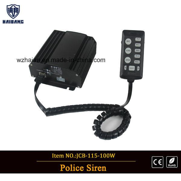 100W 12V Police Ambulance Firefighter Vehicle Siren Speaker Amplifier Alarm Loud Sounds