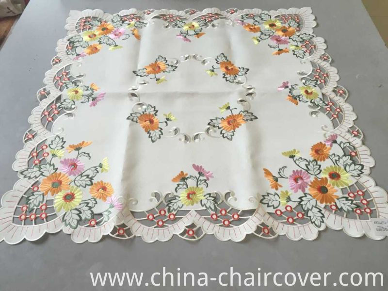 Sunflower Embroidery Easter Day Table Cloth 2016