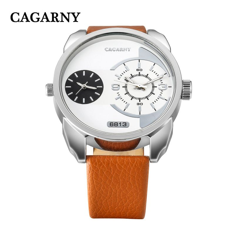 Multi Movement Wristwatch with Silver Case for Men