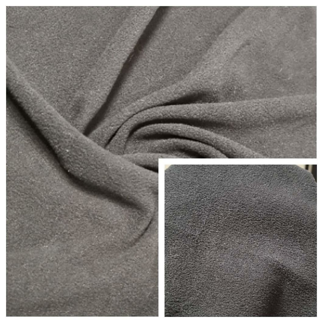 100% Polyester Polar Fleece Dyed Fabric DTY 75D/144f Double Side Brush One Side Anti-Pilling