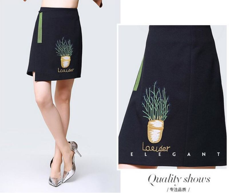 Summer Fashion Simple Irregular Black Ladies Dress