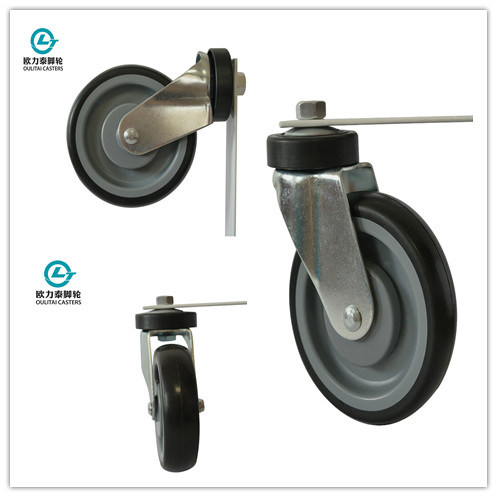 5 Inch TPR Shopping Trolley Caster