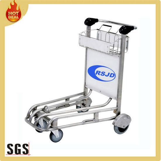 4 Wheels Stainless Steel Airport Trolley Cart (BG5B)