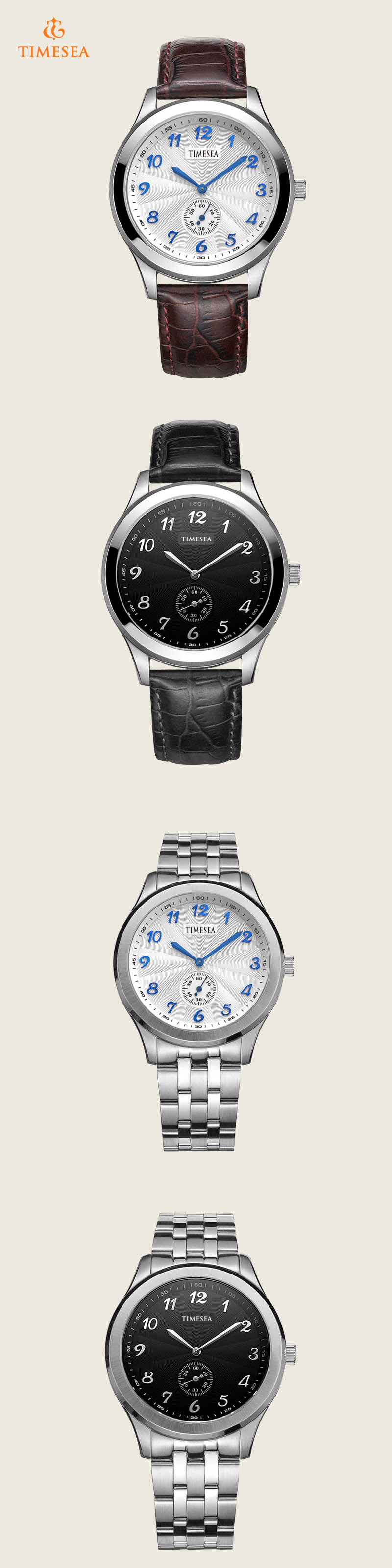 Men's Casual Wrist Watch Leather Strap Quartz Watch 72312