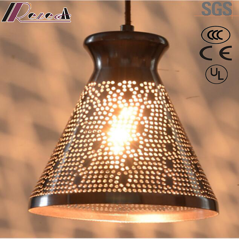Simple and Ancient Round Hollow Pendant Lighting with Restaurant