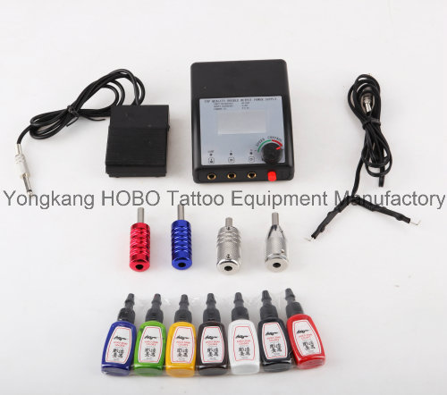 Long Life Tattoo Kit 3 Guns Type Tattoo Machine Power Supply