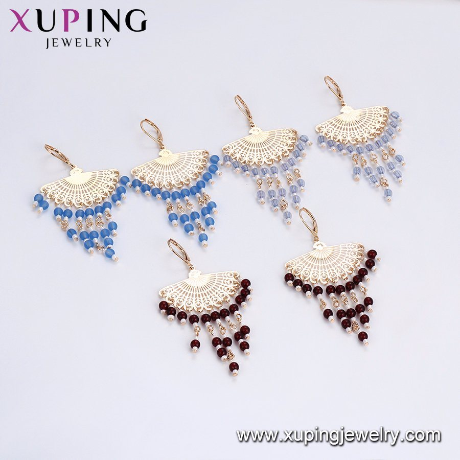 Promotion High Quality Gorgeous Jewelry Muslim Style Gold Earrings Beads Drop Earrings for Ladies