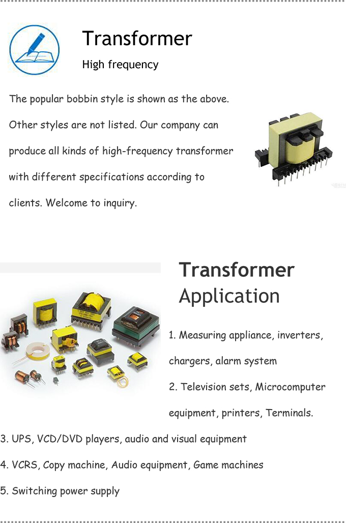 High Quality with RoHS Low Frequency Transformer