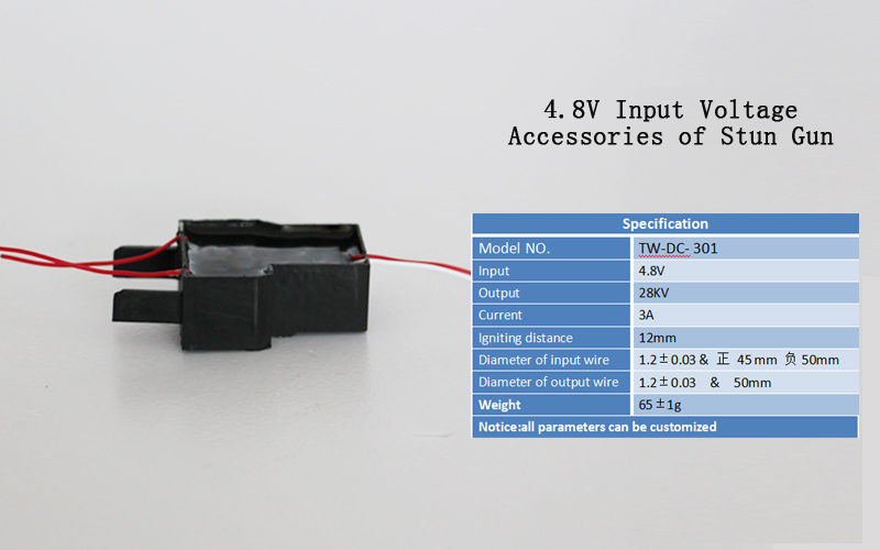 High Voltage Generator Ignition Coil DC 4.8V to 28000V