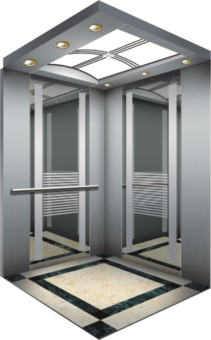Small Lift Machine Room Commercial Gearless Passenger Elevator for Hotel