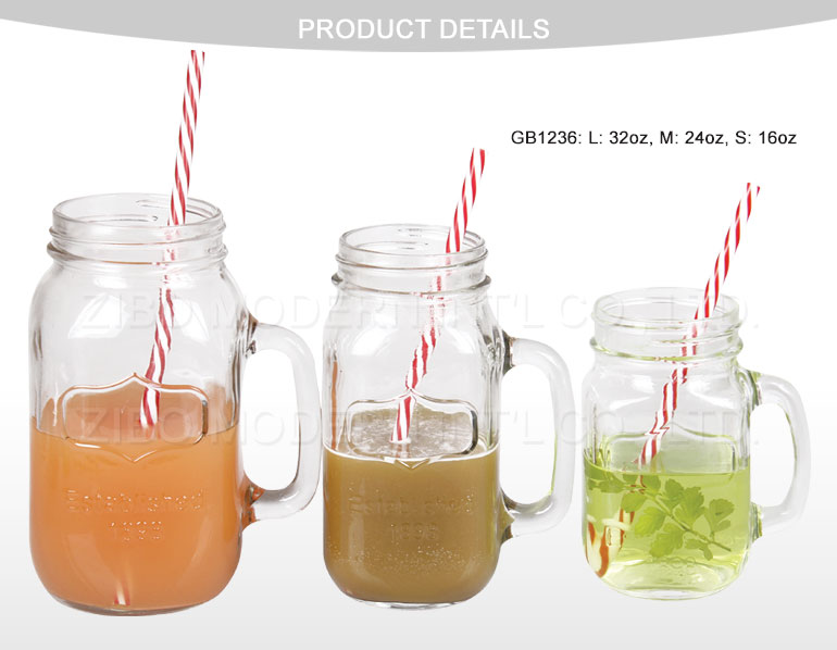 24oz Mason Jars Wholesale with Metal Lid