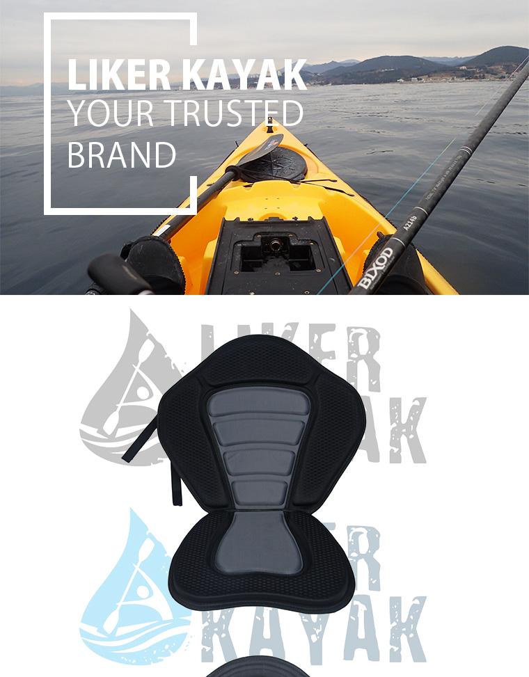 Kayak EVA Seat with Fishing Rod Holders Back Bag