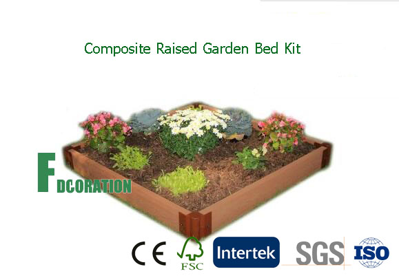 WPC Composite Raised Bed Garden Kit Planter 42