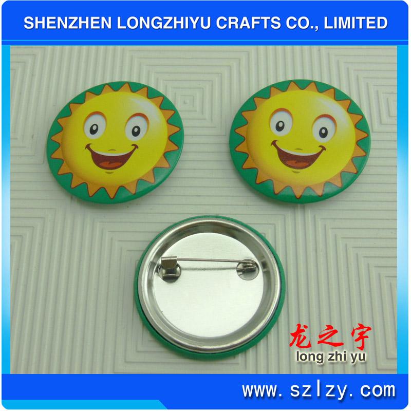 Custom Logo Price Printed Tinplate Badge Button Pin
