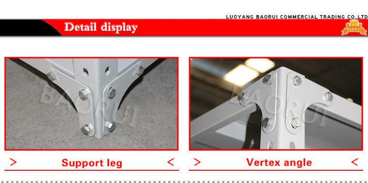 Adjustable Shelf Retail Grocery Store Light Duty Goods Display Rack Metal Shelves
