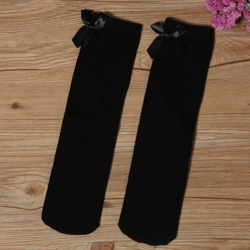 Knee High Stocking with Bow for Girls Wear