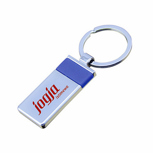 Wholesale Retail Imprint Color Company Logo Rectangle Cheap Keychain (F1367)