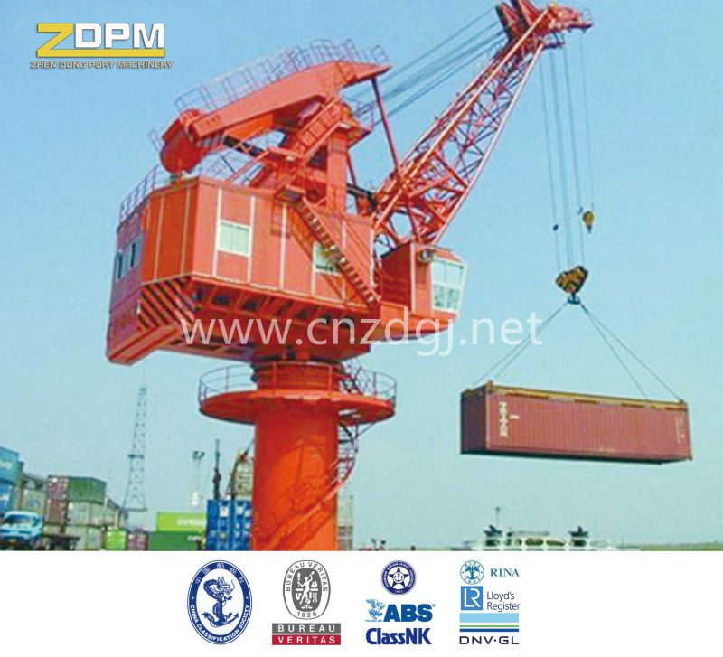 Fixed Base 360degree Slewing Crane Port Equipment