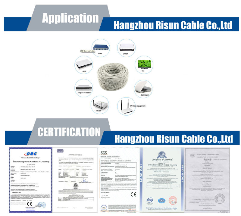 OFC UTP Cat5e for Network LAN Cable RoHS Compliant, ETL List