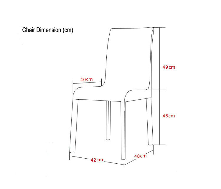 Cheap Modern Dinner Chair, Leather Dinner Chair with Metal Frame (D001)