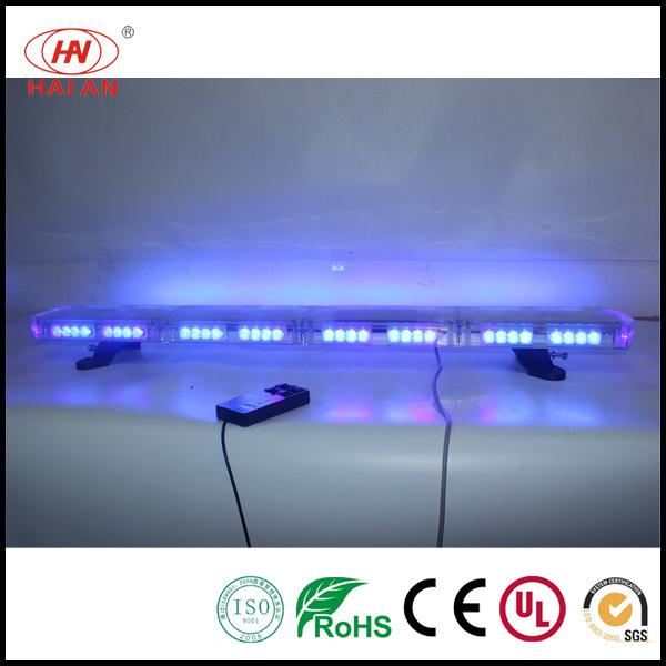 Amber Strobe LED Police Bar Light Outdoor Waterproof Warning Light Bar for Security Trucks Mini Lightbar
