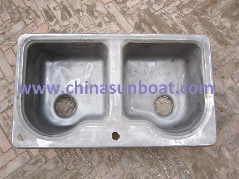 Sunboat European Enameled Cast Iron Sinkwater Channel/ Pentrough /Flume/ Double Sink Enamel