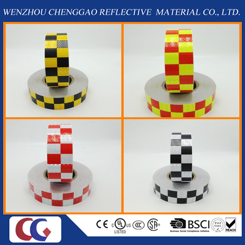 Truck Chequer Reflective Adhesive Warning Tape in Different Colors