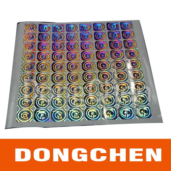 Competitve Price High Quality Security Transparent Laser 3D Hologram Sticker