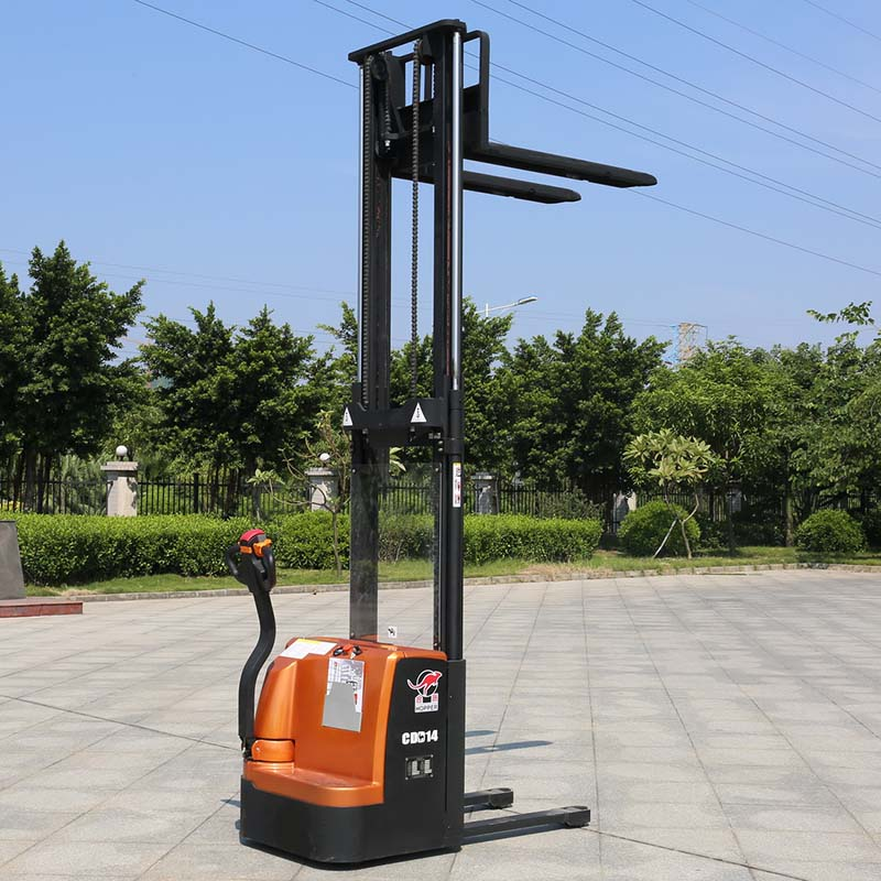 Factory Price Offer Full Electric Powered Forklift Pallet Stacker (CDD14)