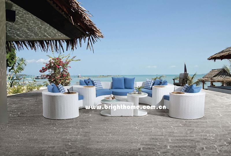 New Design Sofa Set Wicker Outdoor Garden Furniture Bp-873c