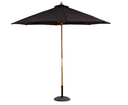 2.7m Large Black Patio Outdoor Octagonal Umbrella