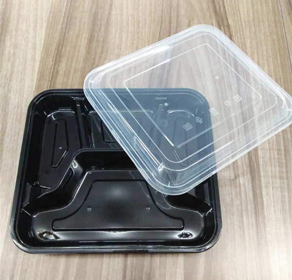 Take Away Microwave Disposable Plastic Soup Bowl Food Container with Lid
