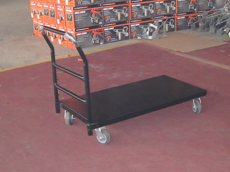 Hand Push Trolley Tool Truck Industrial Heavy Duty Flat Platform Cart