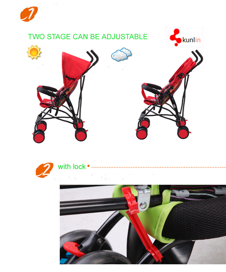 Cheap Foldable Portable Baby Stroller/ Pushchair/ Baby Buggy