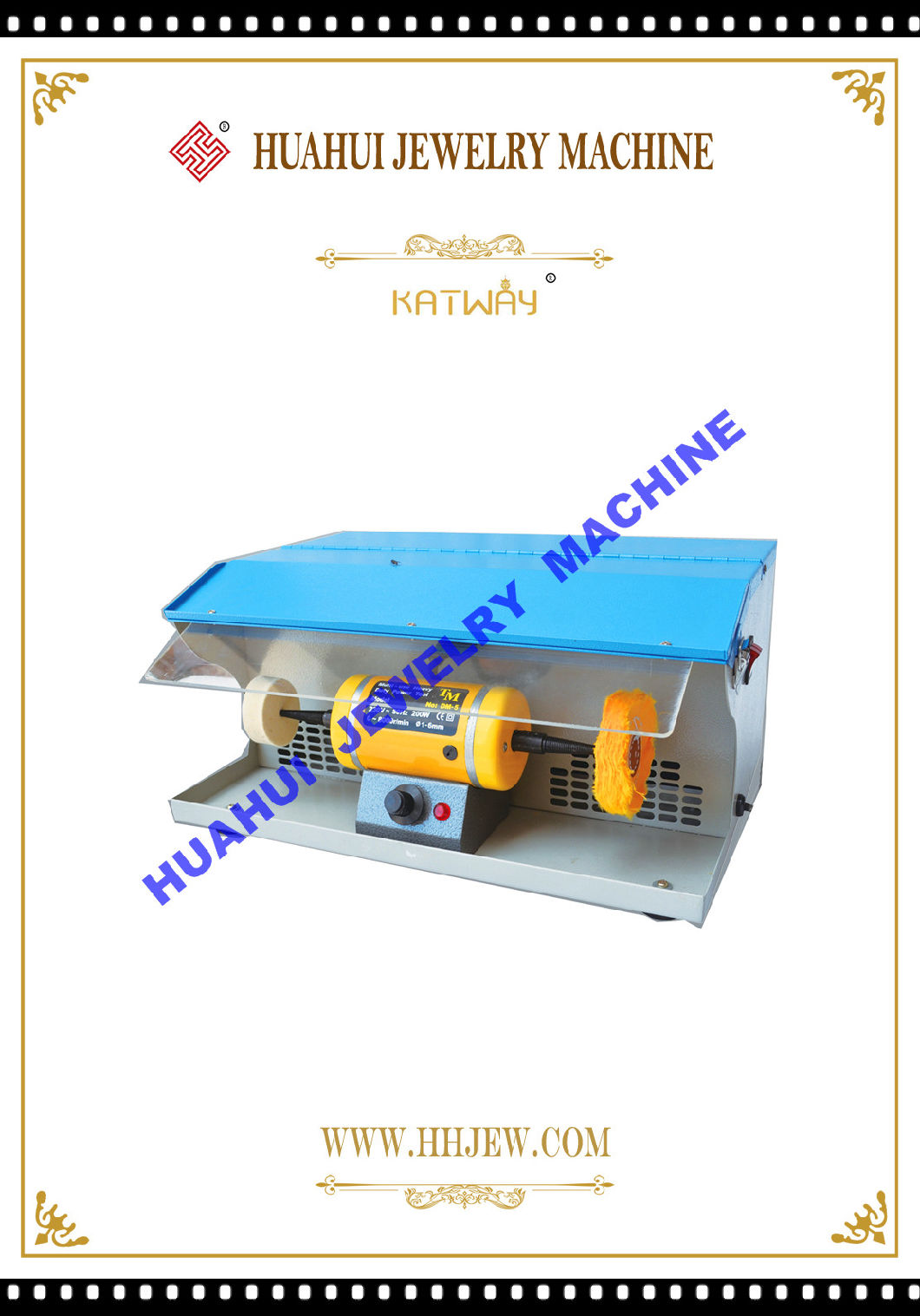 Bench Lathe Machine Electric Grinder, Bench Buffer Polisher Grinder Buffing Polishing Machine for Jade Jewelry, Huahui Jewelry Machine & Jewelry Making Tools